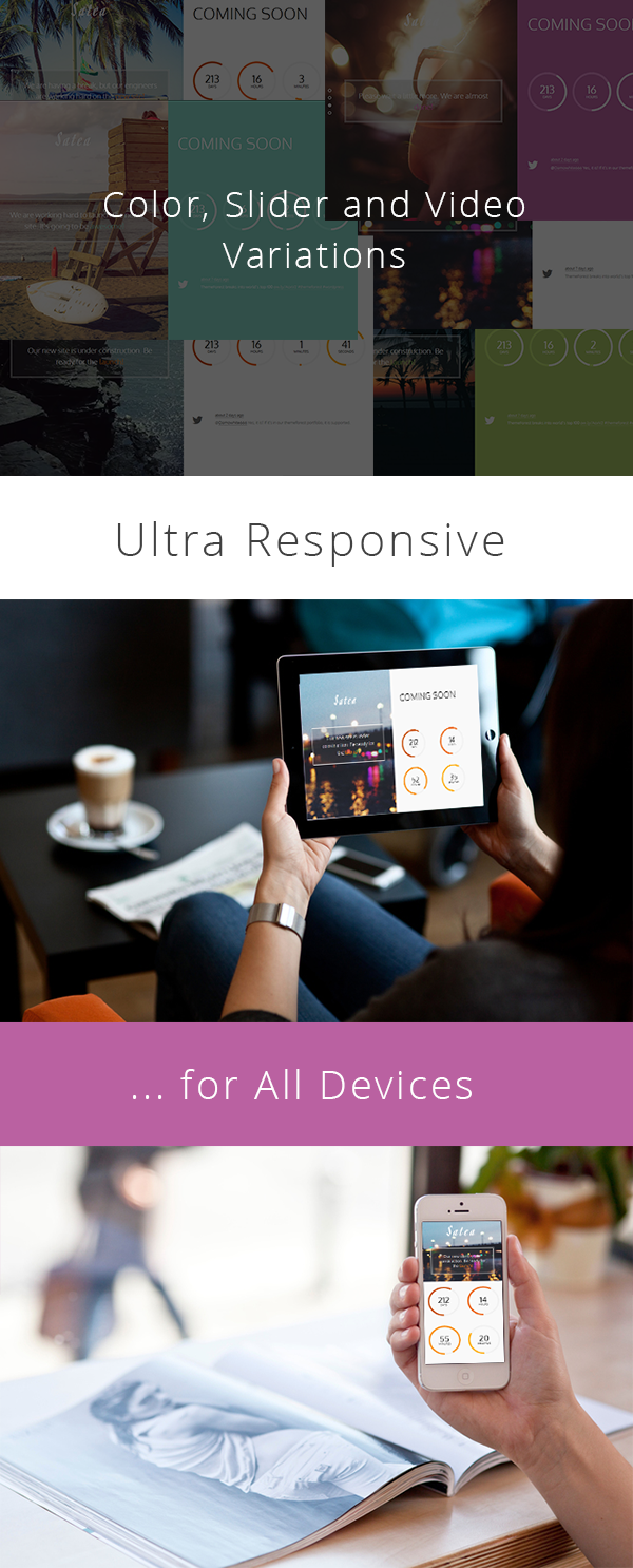 Satea - Responsive Multi-purpose Coming Soon Page